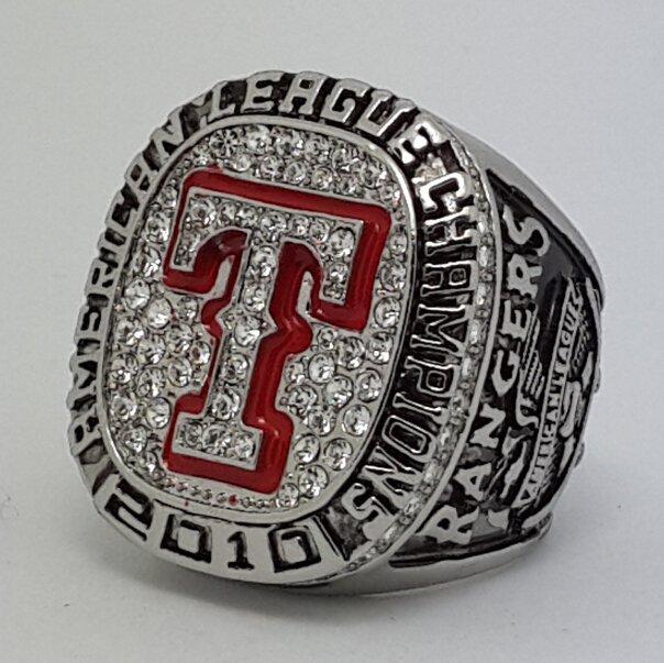 2010 Texas Rangers AL American League world series championship ring baseball size 11 Back Solid