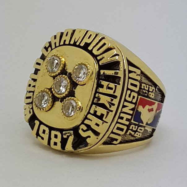 Los Angeles Lakers 1987 Basketball JOHNSON Dynasty championship ring NBA size 9-13 Nice Gift