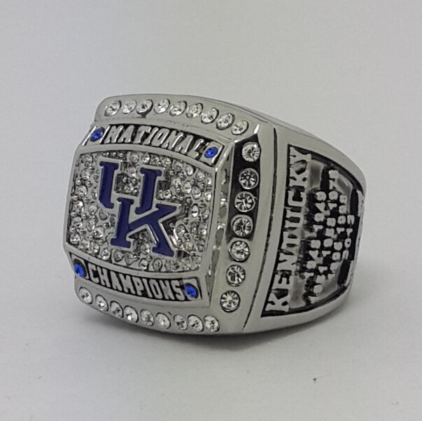 2012 University of Kentucky Wildcats NCAA Basketball championship ring size 11 US Back Solid