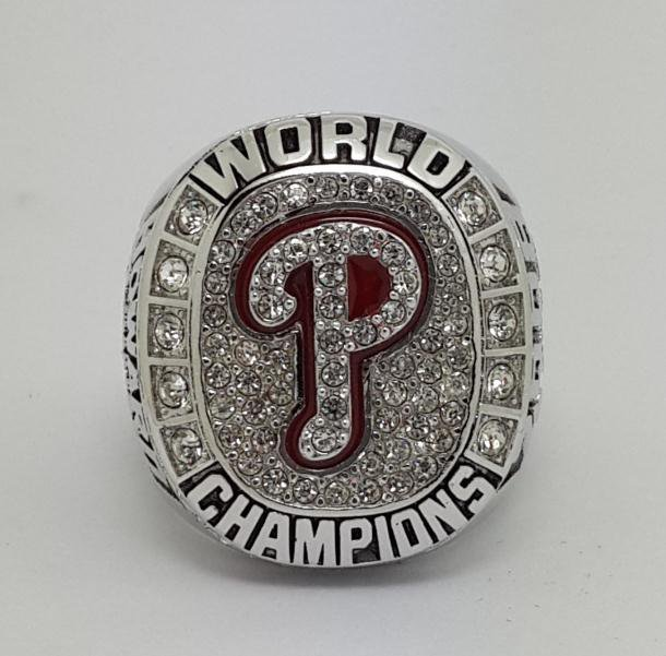 Philadelphia Phillies 2008 world series championship ring HOWARD baseball MLB size 9-14 Back Solid