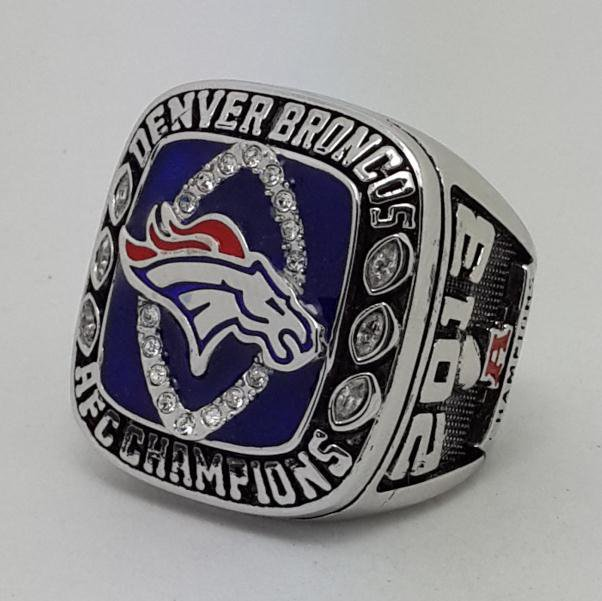 Denver Broncos 2003 AFC Super bowl championship ring MANNING size 9-14 US Back Solid