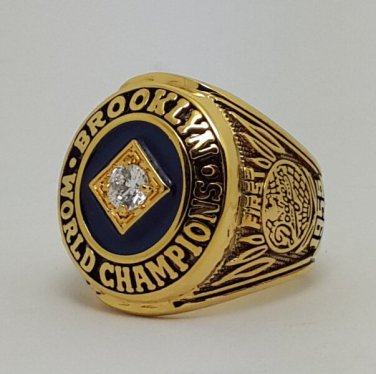 Los Angeles Dodgers 1955 world series championship ring baseball MLB size 9-14 Back Solid