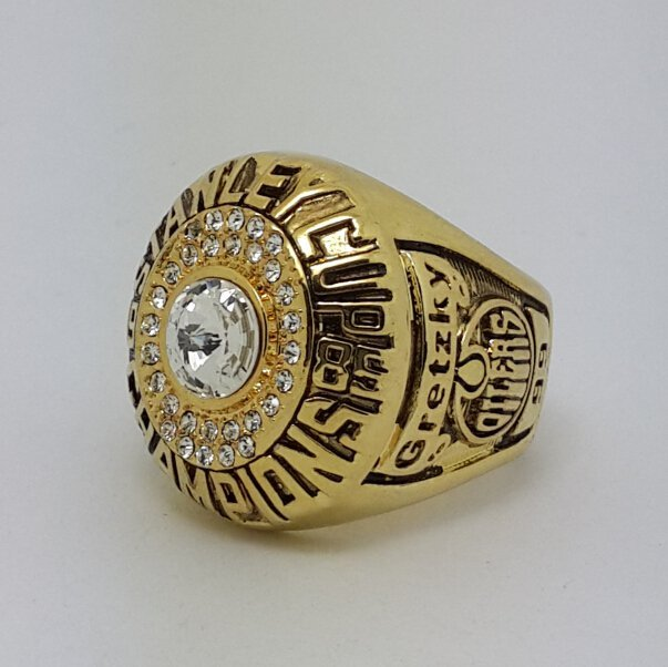 Edmonton Oilers 1985 Stanley Cup championship ring GRETZKY size 11.5 US Back Solid