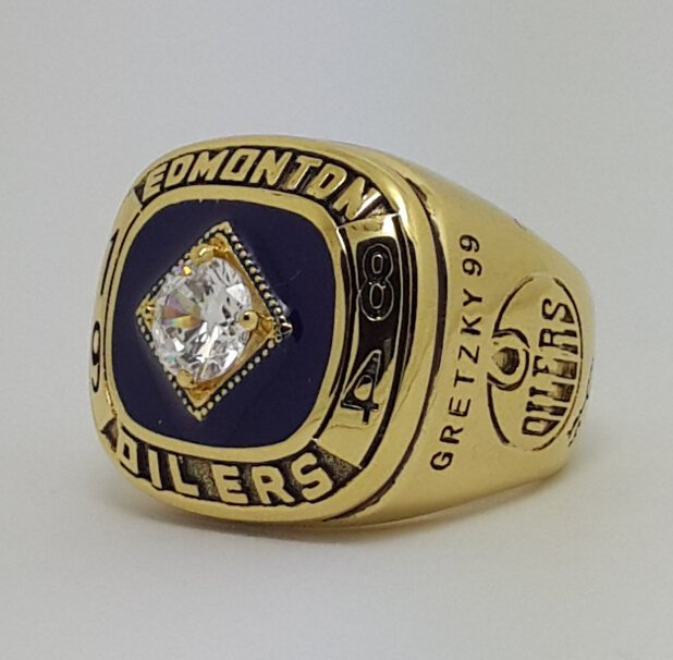 Edmonton Oilers 1984 Stanley Cup championship ring GRETZKY size 9-13 US