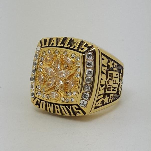 High Quality 1995 Dallas Cowboys XXX Super bowl championship ring AIKMAN size 9-14 Back Solid