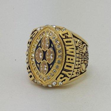 High Quality 1993 Dallas Cowboys XXVIII Super bowl championship ring AIKMAN size 9-14 Back Solid