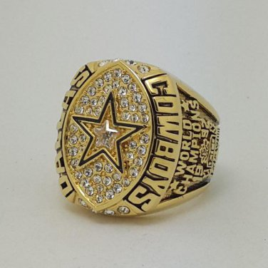 High Quality 1992 Dallas Cowboys XXVII Super bowl championship ring AIKMAN size 9-14 Back Solid