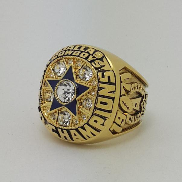 High Quality 1971 Dallas Cowboys XXVII Super bowl championship ring STAUBACH size 9-14 Back Solid