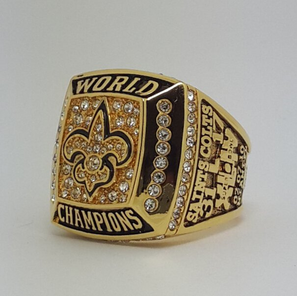 High Quality 2009 New Orleans Saints XLIV Super bowl championship ring BREES size 9-14 Solid