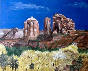Sedona Landscape 16x20 ready to hang