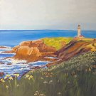 Lighthouse Point 20x20, ready to hang