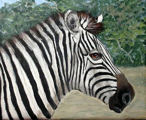 How to Paint a Zebra lesson with pattern