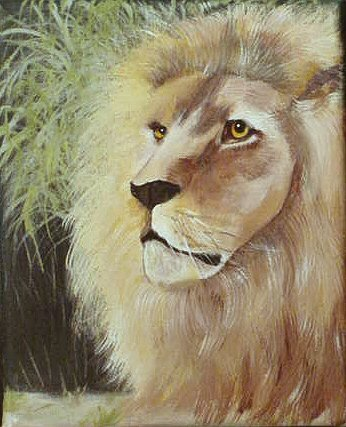 How to Paint an African Lion with pattern