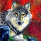 How to Paint a Wolf with pattern