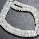 Rainbow Moonstone Square Heishi Cut Beads 16 inch strand 5 mm approx