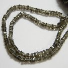 Smoky Quartz Square Heishi Cut Beads 16 inch strand 3.5- 4 mm approx
