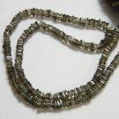 Smoky Quartz Square Heishi Cut Beads 16 inch strand 3.5- 4 mm approx