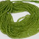 AAA Quality Peridot Micro Faceted Roundell 14 inch strand 4.5 - 5 mm approx