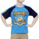 Nickelodeon Sponge Bob Short Set (2 PC) Size 4T, logo on shirt, khaki shorts