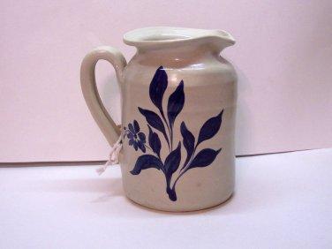 "Williamsburg Pottery salt glazed pitcher, decorative, 8"" high, 5"" across"