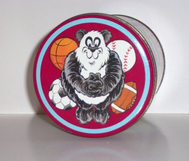 Decorative sports tin with bears , Red, 5.25 in x 4 in