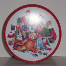 Decorative Christmas tin, Santa and Toys, 3 x 5.5