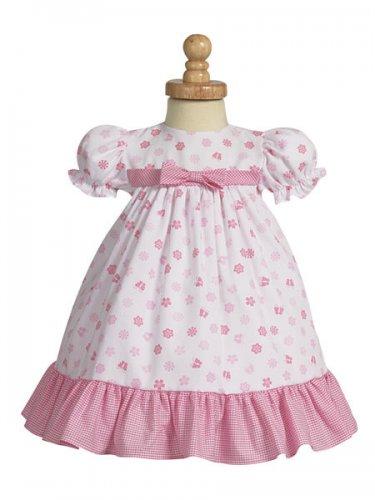LITO Cotton Print Dress, Pink, 12-18 M