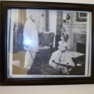 "Framed picture of Shirley Temple and Lionel Barrymore in ""The Little Colonel"","