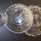 "Pressed Glass Serving Dishes, Set of Three, 3"", 7"", 8"""