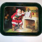 "Coca Cola Toleware Serving Tray, Santa, 13"" X 10 3/4"""