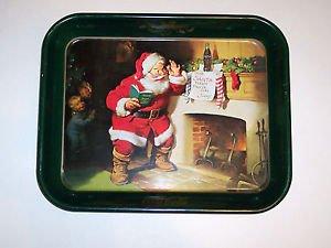 """Coca Cola Toleware Serving Tray, Santa, 13"""" X 10 3/4"""""""