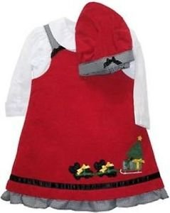 Corduroy Christmas Jumper, Red with Scotty dogs, 12 M