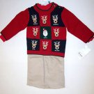 Reindeer Sweater Set (3 PC), Red, 18M