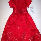 LITO EMBROIDERED RED TAFFETA  WITH SPARKLES, 6