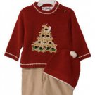 Reindeer Days Sweater Set (3 PC), Red and Beige, 12 M