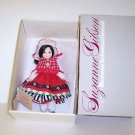 "Suzanne Gibson Reeves International Doll. Miss Wales 10"" Tall Dressed in Red."