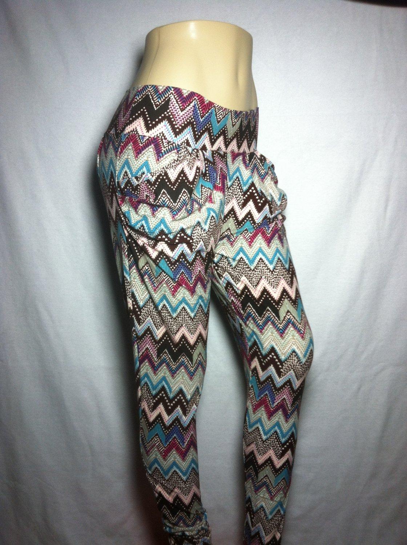 Tribal Chevron Print Jogger Leggings - by Cali West Boutique