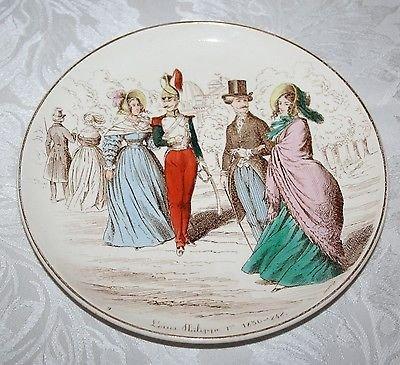 CREIL ET MONTEREAU LA MODE DEPUIS CENT ANS - LOUIS PHILIPPE 1er 1830-1848 PLATE