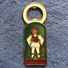 VINTAGE BRASS ENAMELED GREEK BOTTLE OPENER