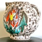 SUPERB GERMAN LAVA POTTERY VASE/ JUG 1960/1970'S - SIGNED