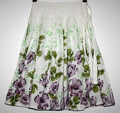 *NEXT* PRETTY FLORAL WRAPOVER LINED SKIRT SIZE 8 BNWT £21.99