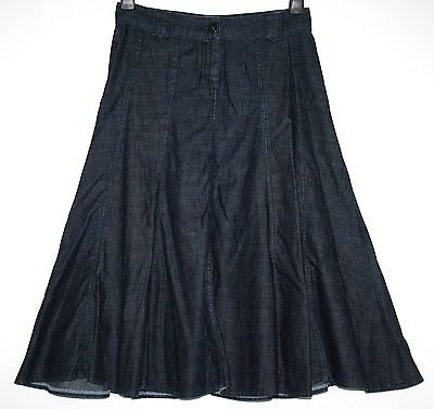 *MARKS & SPENCER PORTFOLIO* DENIM PANEL SKIRT SIZE 10
