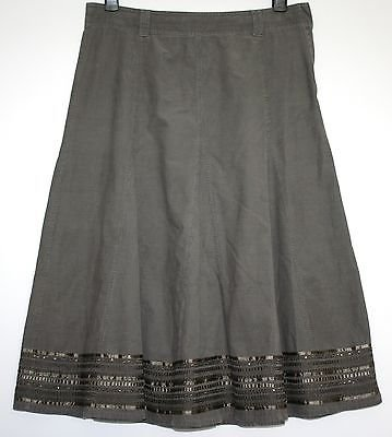 *MARKS & SPENCER* SOFT CORD EMBELLISHED SKIRT SIZE 16