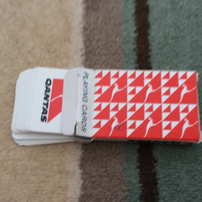 QUANTAS PLAYING CARDS USED