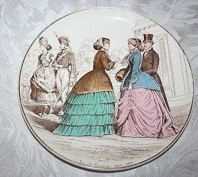 CREIL ET MONTEREAU LA MODE DEPUIS CENT ANS SECOND EMPIRE 1852-1870 PLATE/ASSIETT