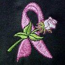 Breast Cancer Awareness Pink Ribbon White Rose Black S/S T-Shirt 5X Unisex New