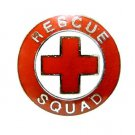 Rescue Squad Red Cross EMS Collar Pin Device Nickel Plated Silver 70S2 New