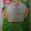 McDonalds Ty Teenie Beanie Baby Dotty the Dalmatian Happy Meal Plush Toys