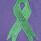Lymphoma Kidney Cancer Awareness Green Ribbon Purple S/S T-Shirt 4XL Unisex New
