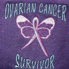 Ovarian Cancer Teal Lettering Butterfly Purple L/S T Shirt Unisex Cotton 2X New